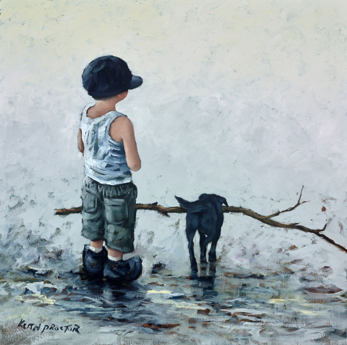 Fetch! by keith proctor -  sized 24x24 inches. Available from Whitewall Galleries